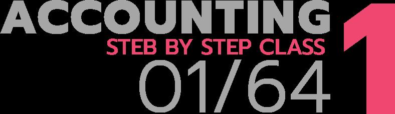 ห้องเรียนคอร์ส บัญชี 1 Step by Step รอบที่ 1/2564
